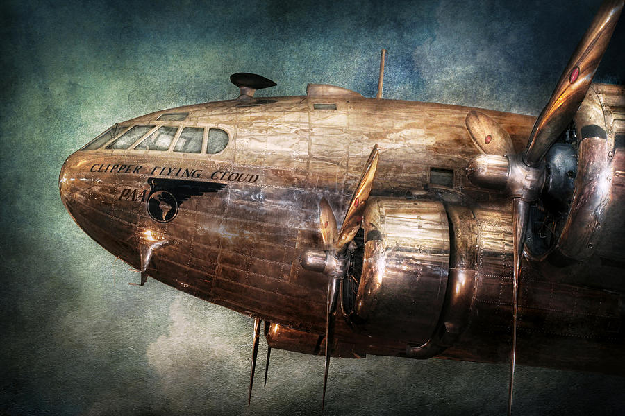 Plane - Pilot - The Flying Cloud  Photograph  - Plane - Pilot - The Flying Cloud  Fine Art Print