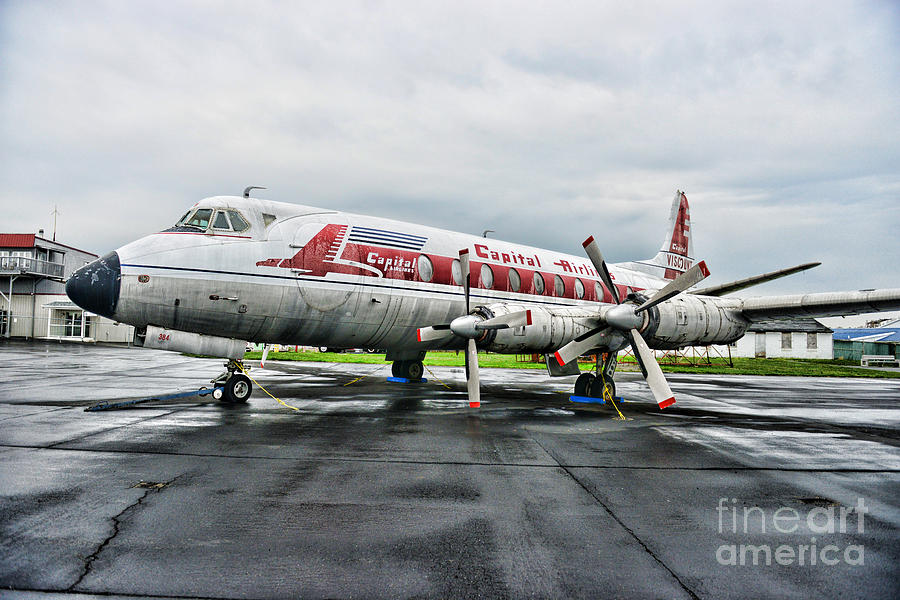 Plane Props On Capital Airlines Photograph  - Plane Props On Capital Airlines Fine Art Print