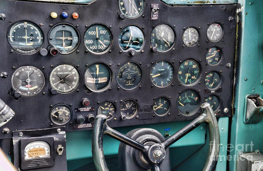 Plane The Cockpit Photograph