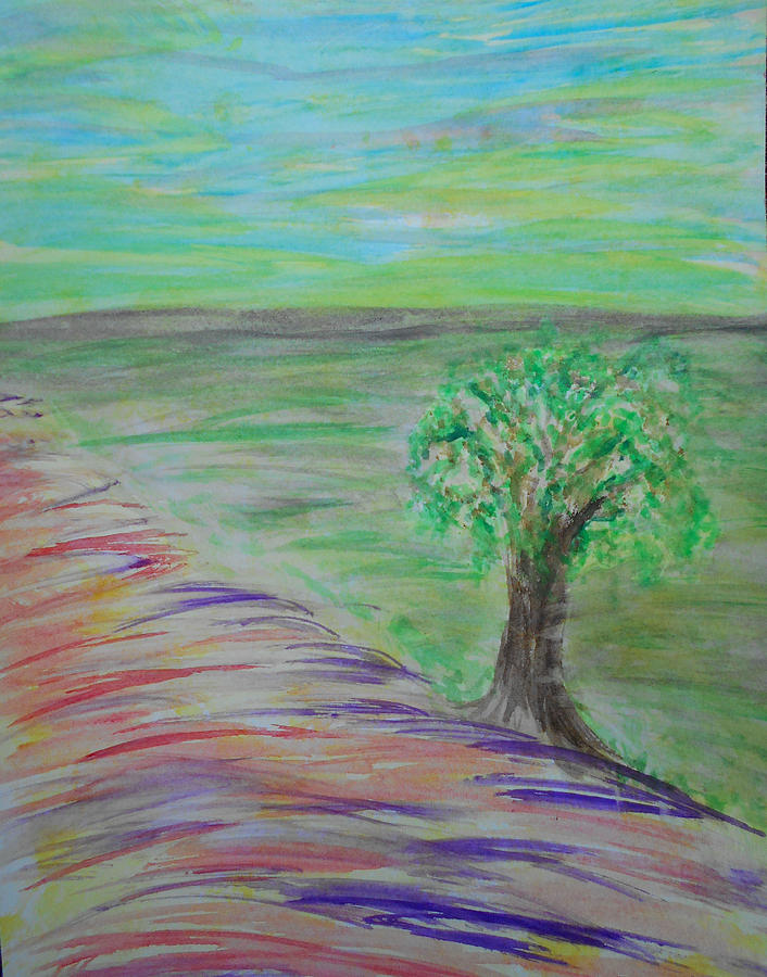Tree Painting - Planted  by Dayna  Lopez