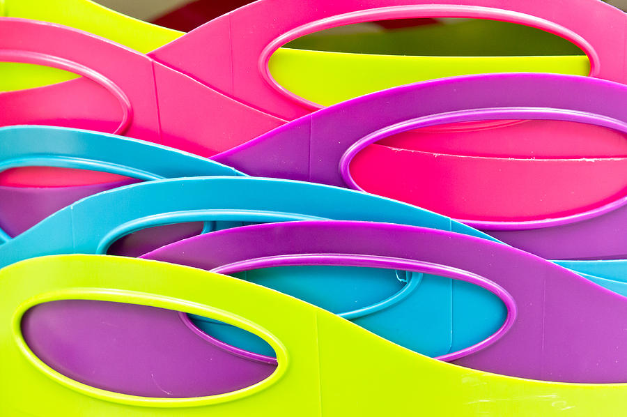 Abstract Photograph - Plastic Tubs by Tom Gowanlock