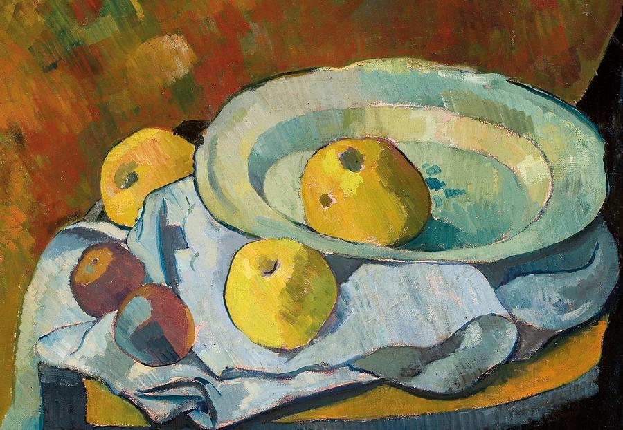 Plate Of Apples Painting  - Plate Of Apples Fine Art Print