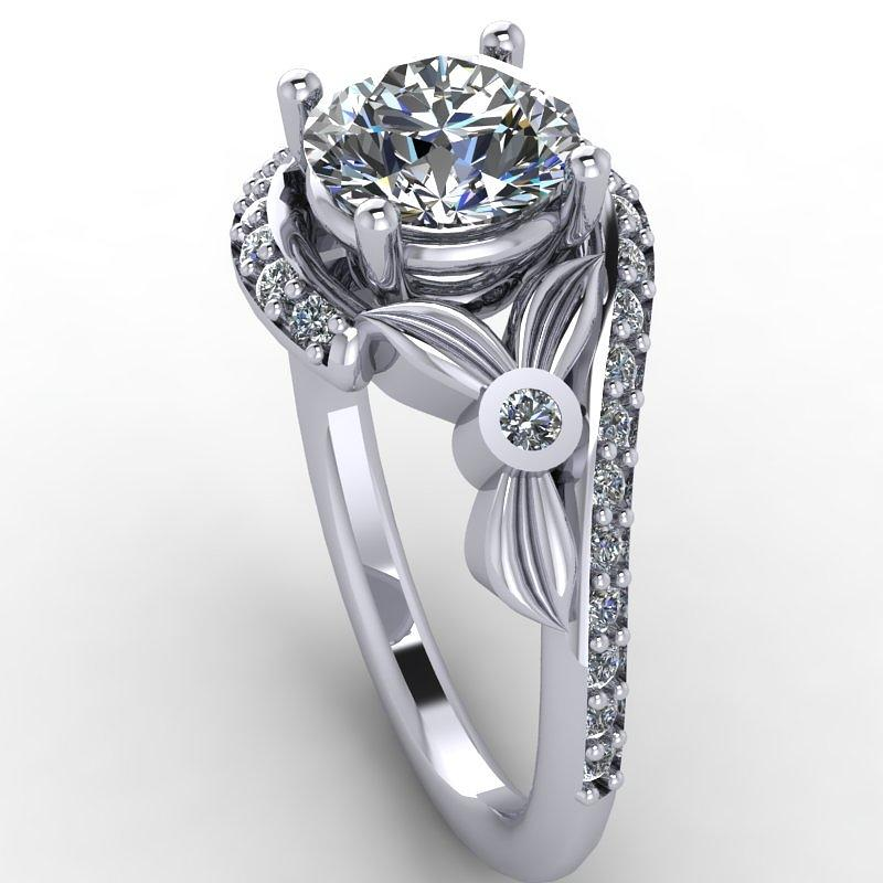 platinum ring with moissanite center jewelry