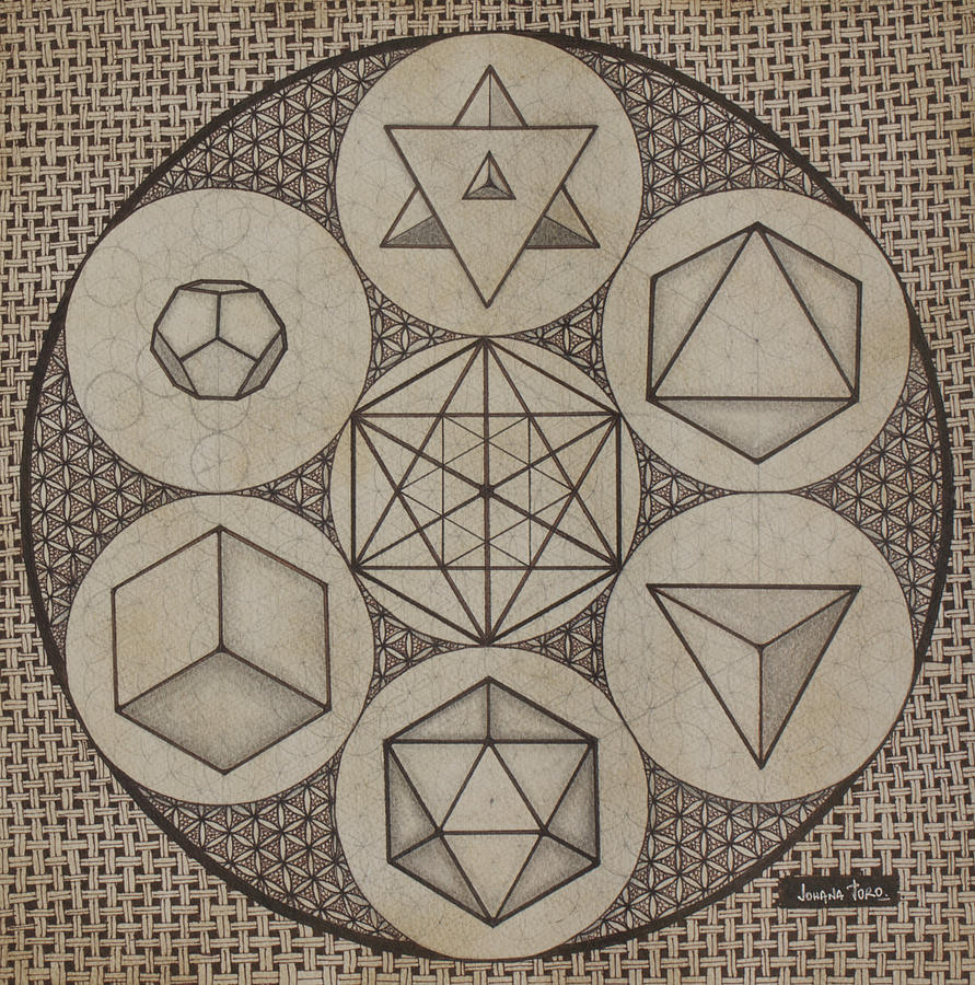 Platonic Solids Painting