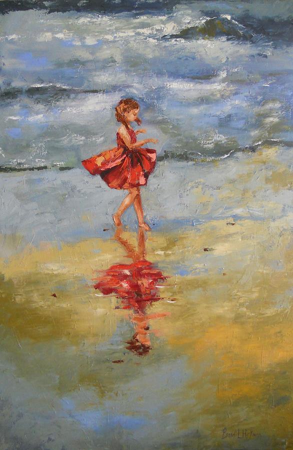 Child Painting - Playful Reflections by Brandi  Hickman