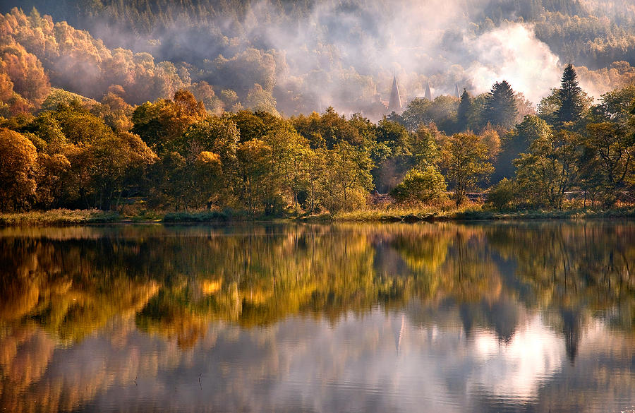 Playing Mirror. Loch Achray. Scotland Photograph  - Playing Mirror. Loch Achray. Scotland Fine Art Print