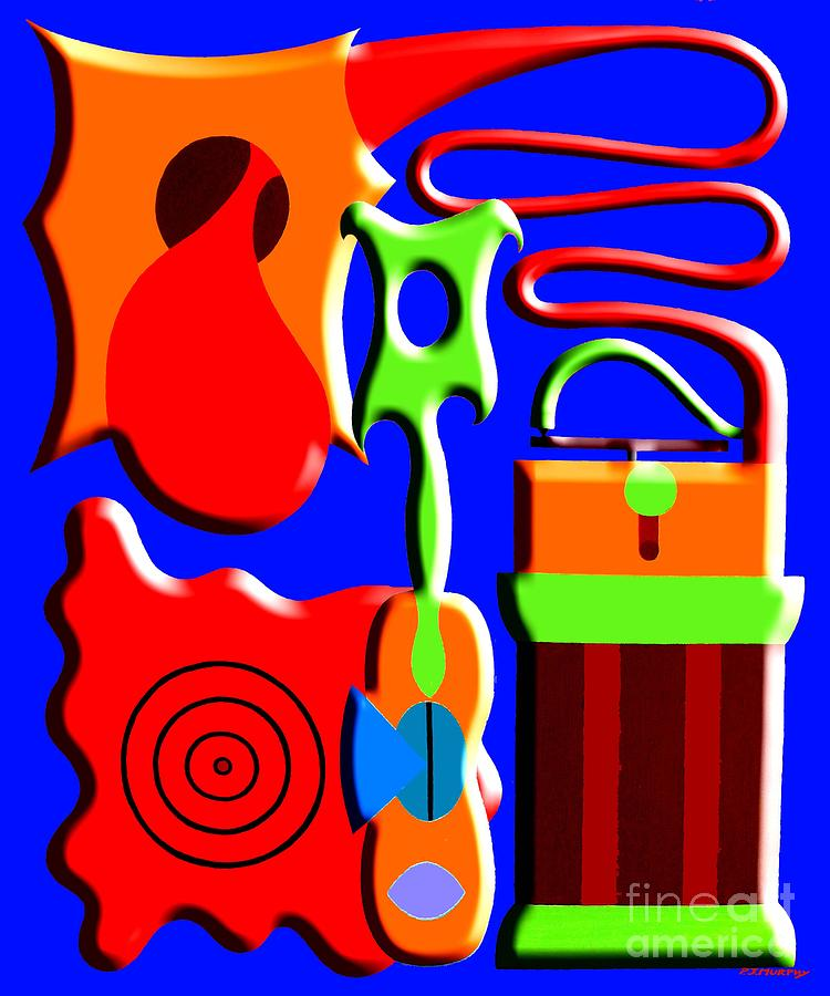 Playing Music Painting  - Playing Music Fine Art Print