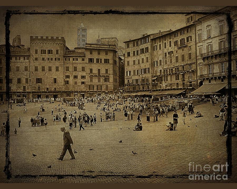 Plaza Siena Italy Photograph