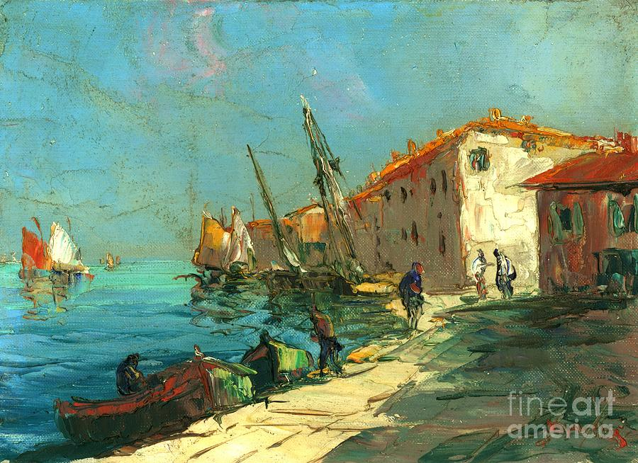 Harbour In France Painting - Plein Air Two by Michael Swanson