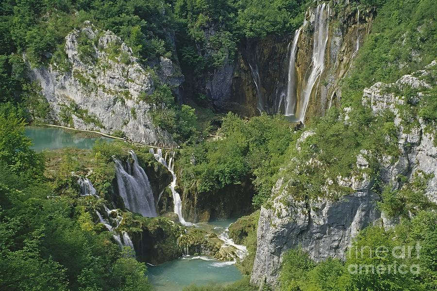 Plitvice Lakes In Croatia Photograph