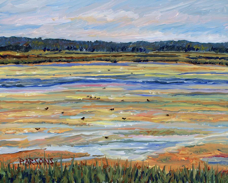 Plum Island Painting - Plum Island Salt Marsh by Pamela Parsons