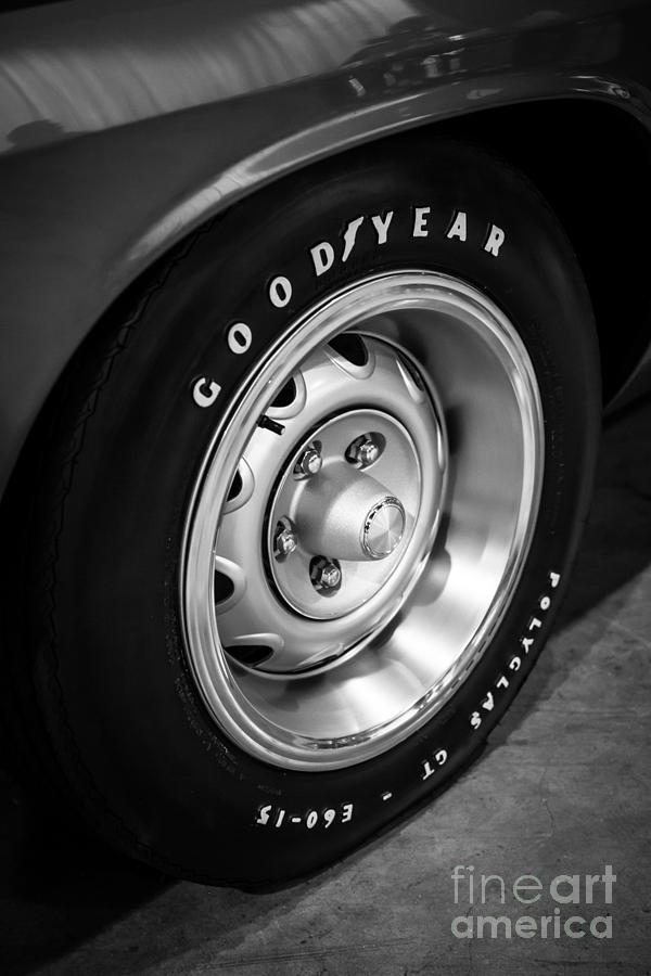 Plymouth Cuda Rallye Wheel Photograph  - Plymouth Cuda Rallye Wheel Fine Art Print