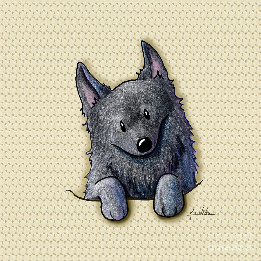 Pocket Schipperke Drawing  - Pocket Schipperke Fine Art Print