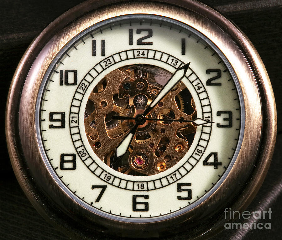 Pocket Watch Photograph  - Pocket Watch Fine Art Print