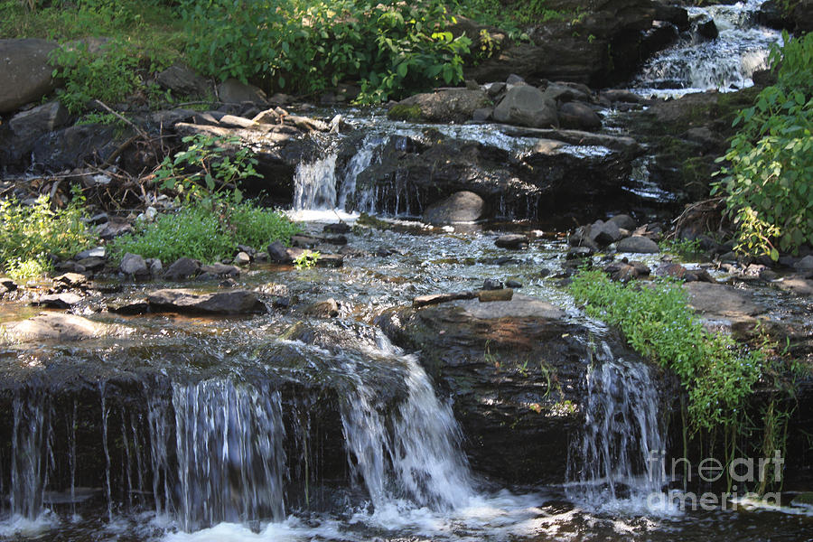 Poconos Waterfall Stream Photograph