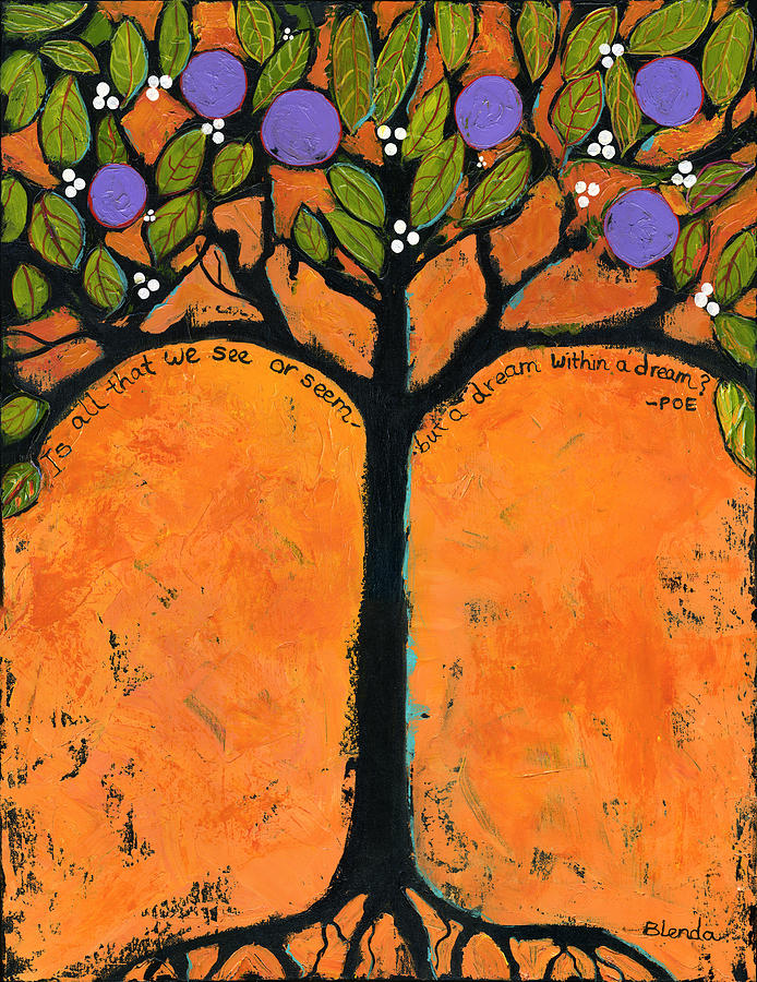 Poe Tree Art Painting  - Poe Tree Art Fine Art Print