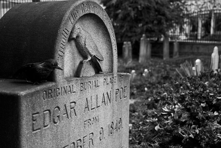Edgar Allan Poe Photograph - Poes Original Grave by Jennifer Ancker