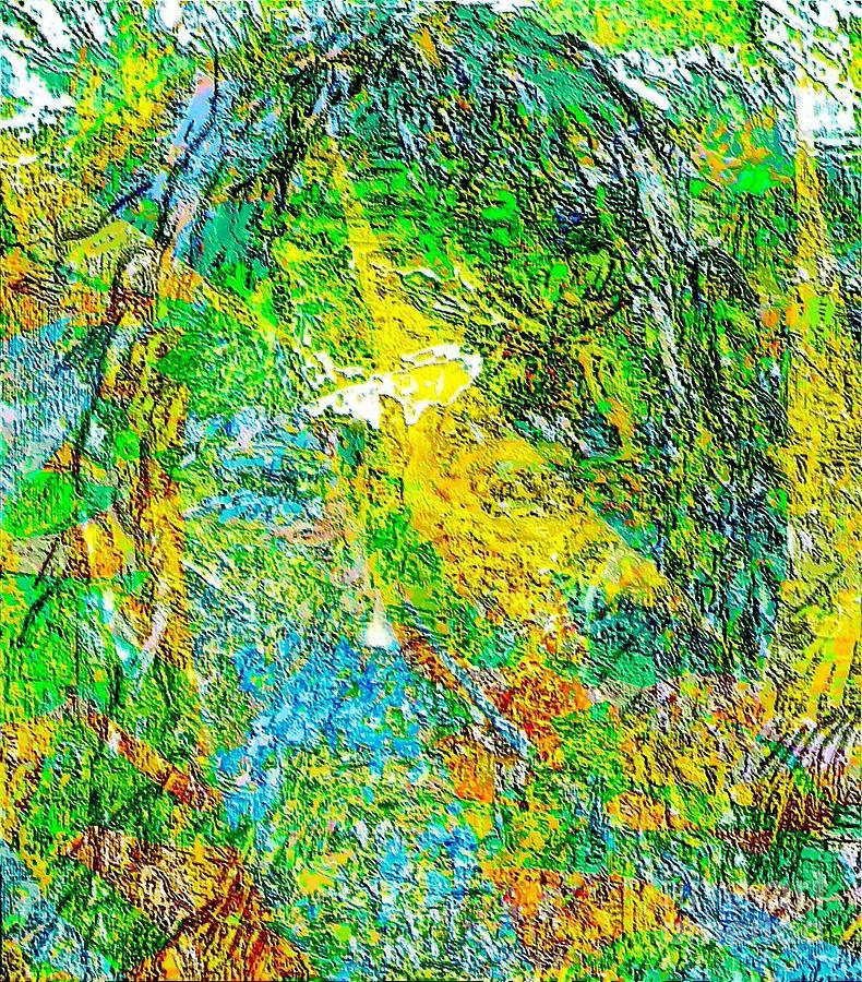Poet In Greenery Painting