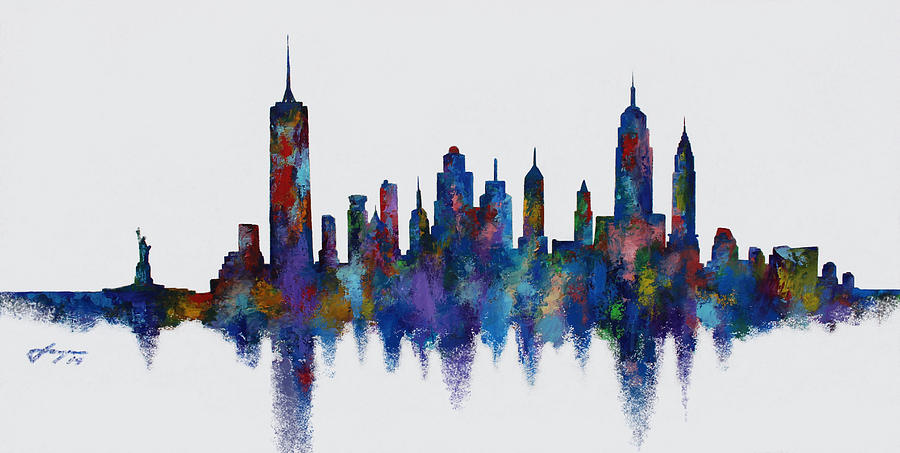 Poetic Manhattan Painting  - Poetic Manhattan Fine Art Print