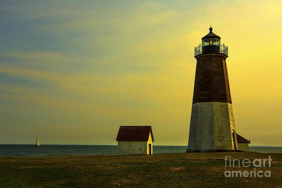 Point Judith Lighthouse Photograph