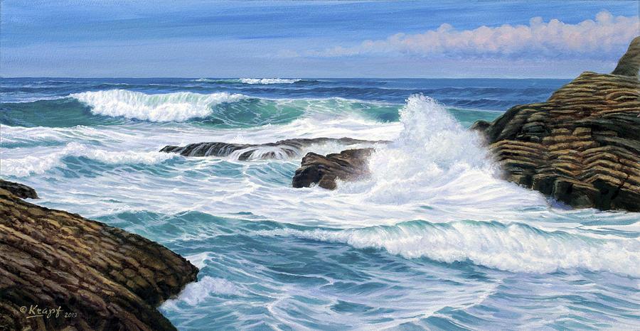 Seascape Painting - Point Lobos by Paul Krapf
