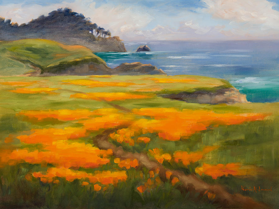 Point Lobos Poppies Painting