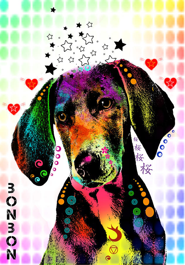 Pointer Digital Art  - Pointer Fine Art Print