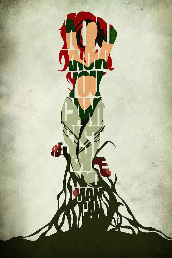 Poison Ivy Drawing  - Poison Ivy Fine Art Print