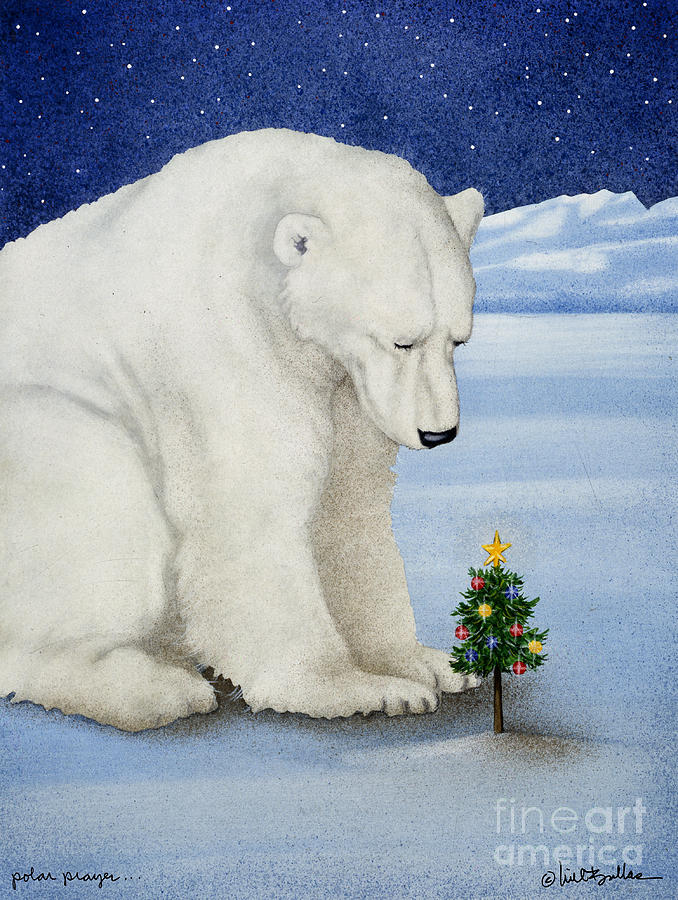 Polar Prayer... Painting  - Polar Prayer... Fine Art Print