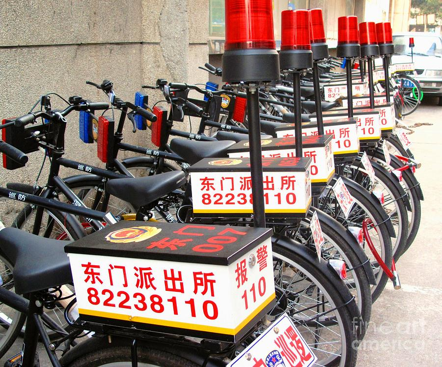 Police Bicycles Photograph