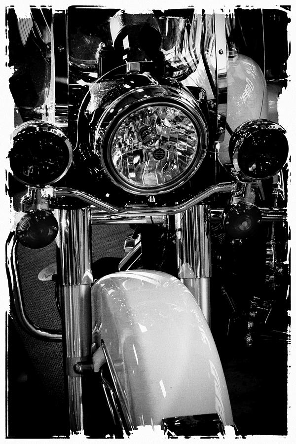 Classic Cycle Photograph - Police Harley II by David Patterson