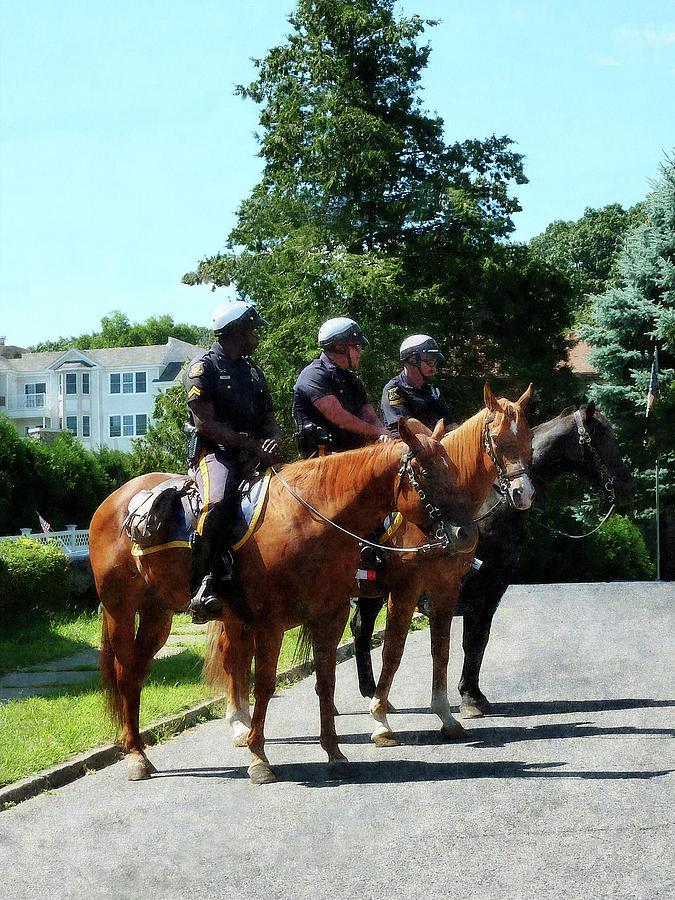 Police Photograph - Policeman - Mounted Police Profile by Susan Savad