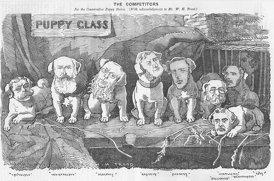 Political Puppy Class Drawing  - Political Puppy Class Fine Art Print