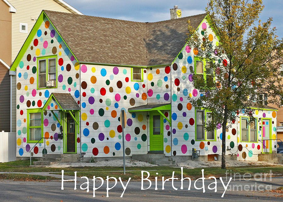 Card Photograph - Polka Dot Happy Birthday by Steve Augustin