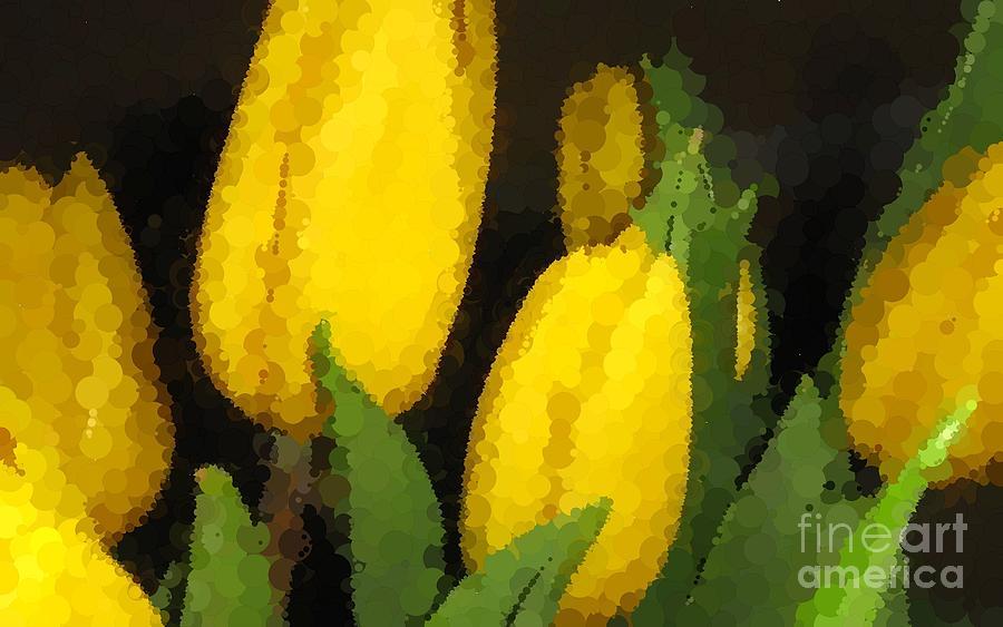 Polka Dot Yellow Tulips Photograph