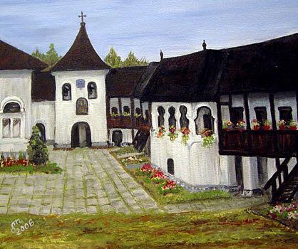 Monastery Painting - Polovragi Monastery Romania by Dorothy Maier