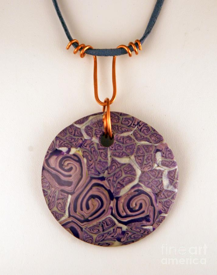 Polymer Clay Jewelry - Polymer Clay Pendant Mc04211205 by P Russell