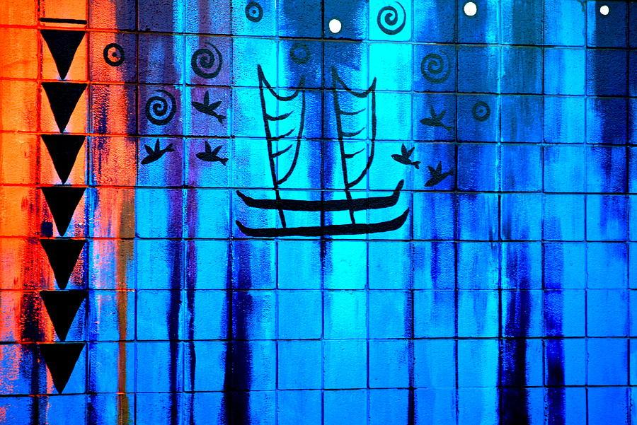 Sailboat Photograph - Polynesian Graffiti  by Karon Melillo DeVega