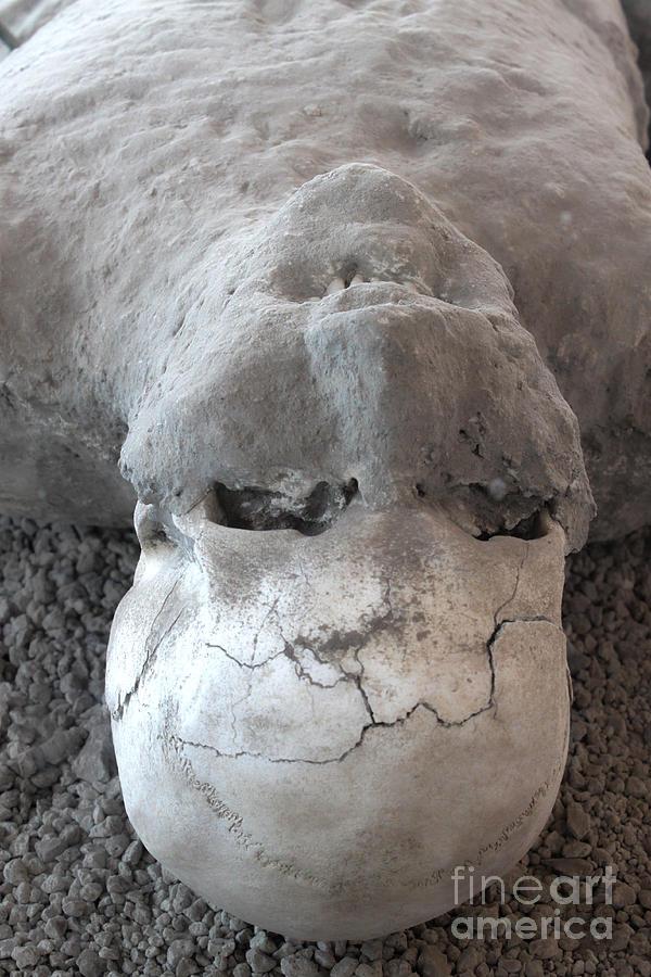 Pompeii Ash Skeleton Photograph