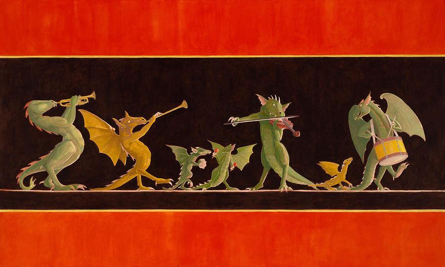 Pompeiian Minstrels Painting