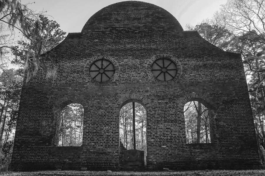 Church Photograph - Pon Pon Chapel Of Ease 5 Bw by Steven  Taylor