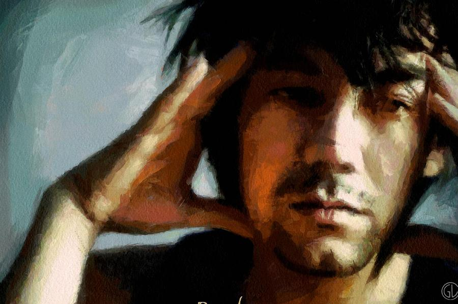 Man Digital Art - Pondering by Gun Legler