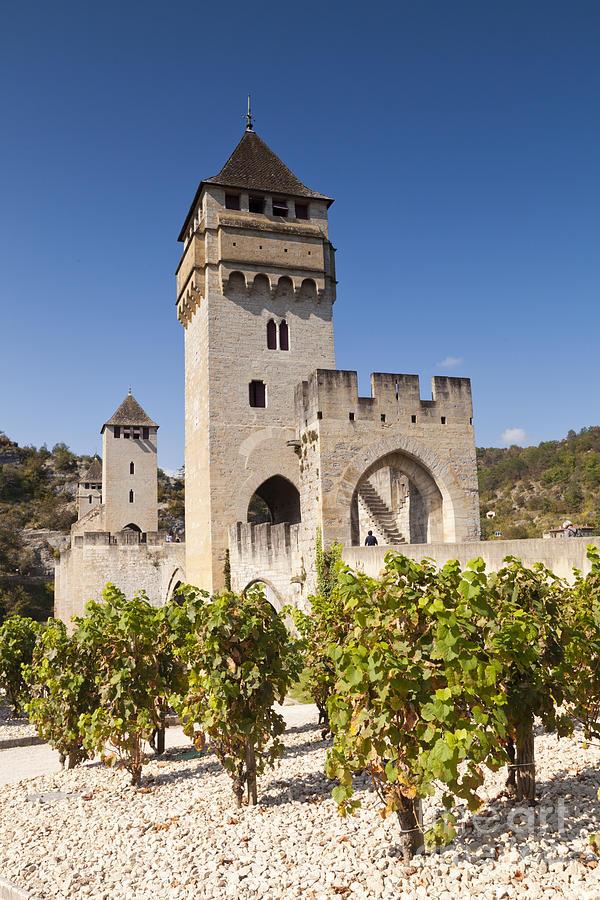 Pont Valentre Cahors Midi-pyrenees France Photograph