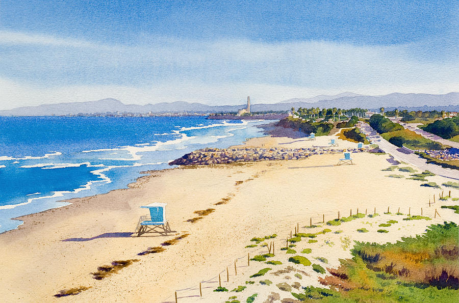 Ponto Beach Carlsbad California Painting