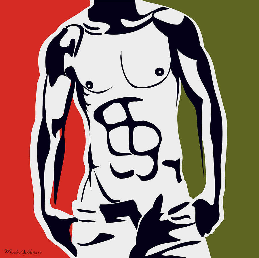 Pop Art Body  Digital Art