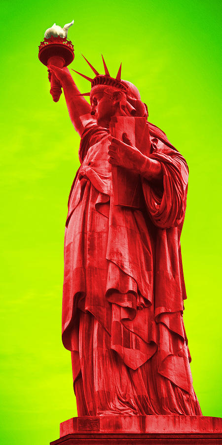 Pop Art Photograph - Pop Art Liberty by Mike McGlothlen