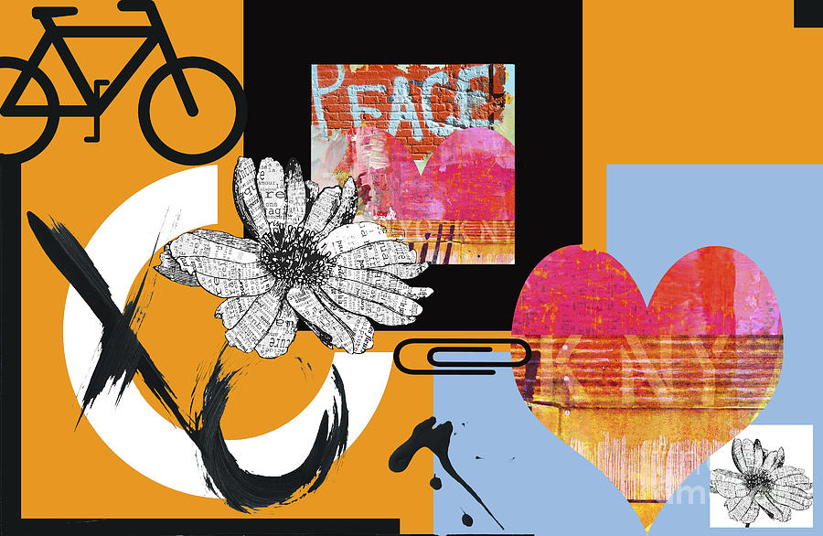 Pop Art Peace And Love Ny Urban Collage Digital Art