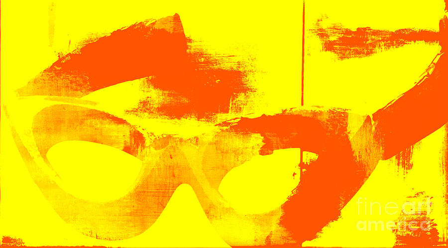 Pop Art Vintage Glasses  Mixed Media