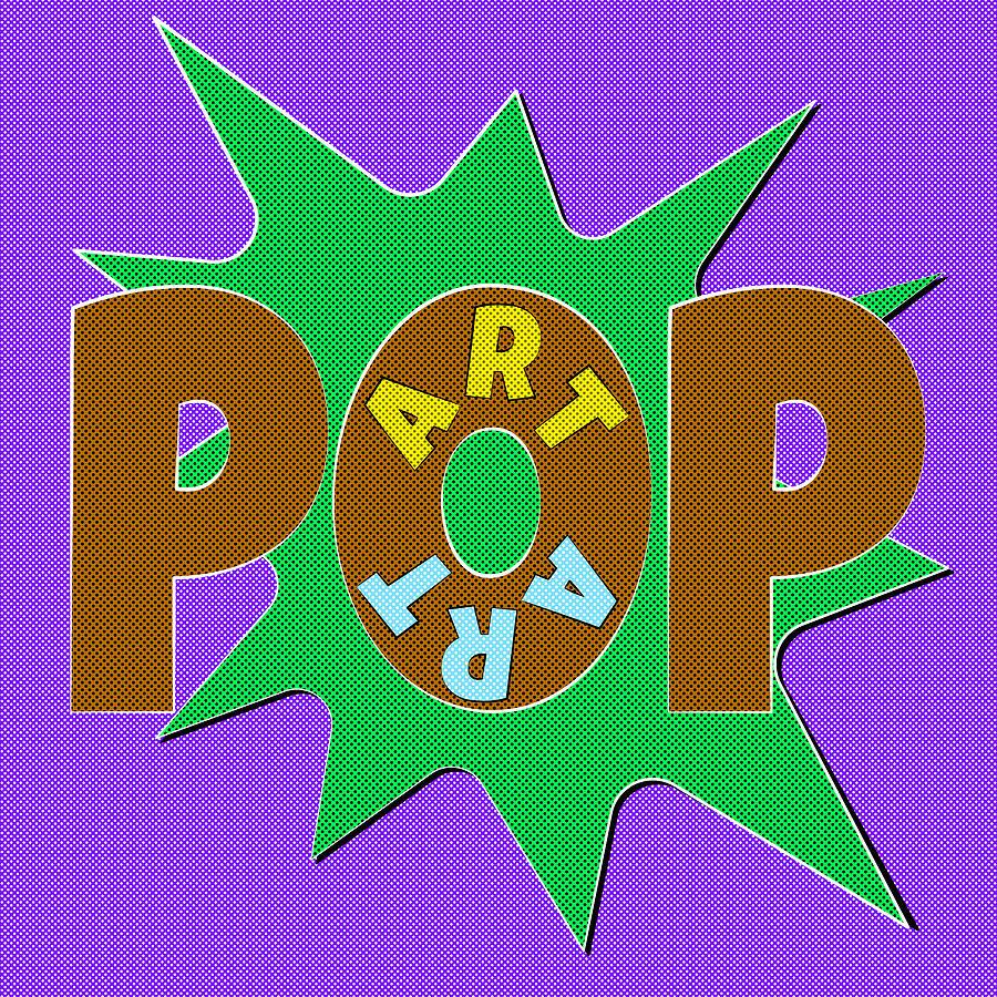 pop art words splat 04 painting by jo roderick