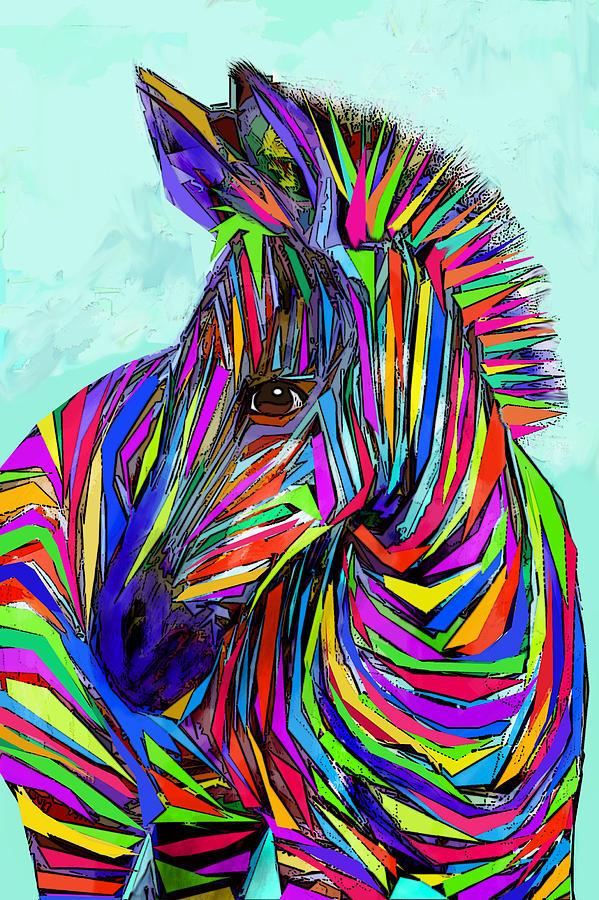 Pop Art Zebra Digital Art By Jane Schnetlage